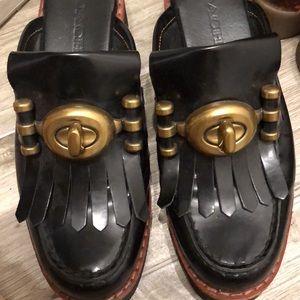 Coach Vintage leather slipper